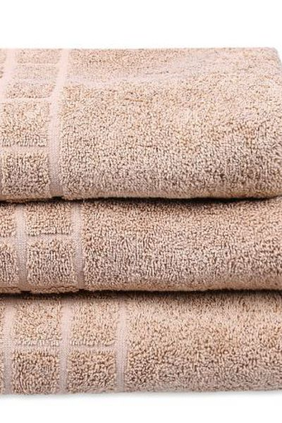 Tan Combed Dyed Towel Pl by GulAhmed