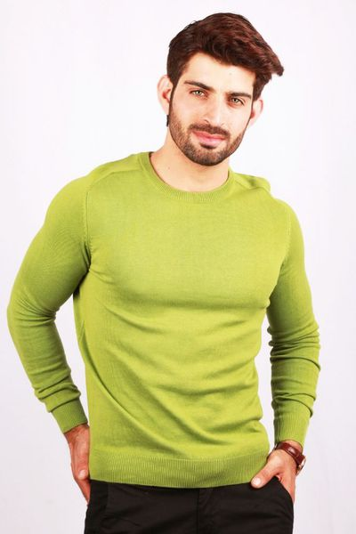 Green Crew Neck Sweater FS-SWT-D13-1 by GulAhmed
