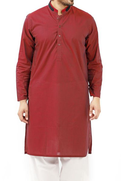 Maroon Plan Kurta KS-545 by GulAhmed