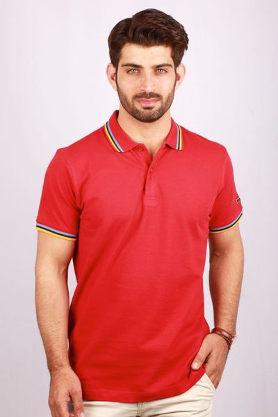 Red GA Sports Polo PKP-ST-15 by GulAhmed