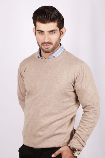 Cream Crew Neck Sweater FS-SWT-D18-4 by GulAhmed