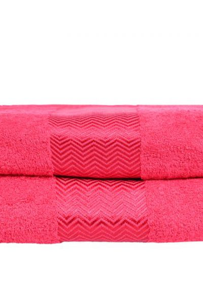 Red Combed Dyed Towel 18 by GulAhmed
