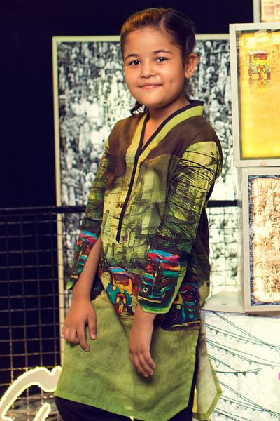 Multi Printed Lawn Shirt GLS-17-145  Kids by GulAhmed