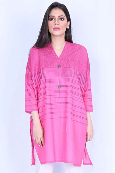 Pink 1 Pc Lawn Shirt GLS-18-13 by GulAhmed