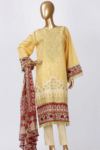 Lawn Unstitch Suit by Junaid Jamshed
