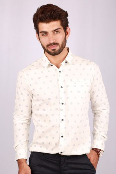 White Casual Shirt CM-YD-2062 by GulAhmed