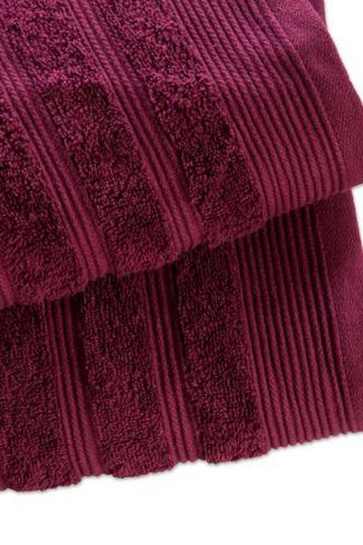Purple Combed Towel Plain by GulAhmed