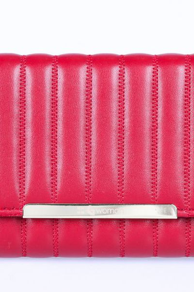 Red Casual Clutch -01-24 by GulAhmed