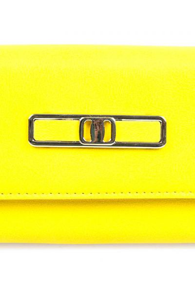 Yellow Casual Clutch 01-23 by GulAhmed
