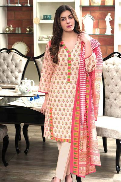 Pink 3 Pc Printed Lawn CL-365 B by GulAhmed