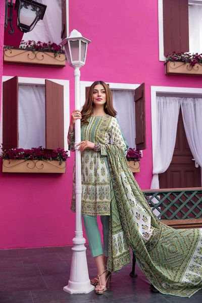 Sea Green 3 Pc Stitched Suit CL-376 A by GulAhmed