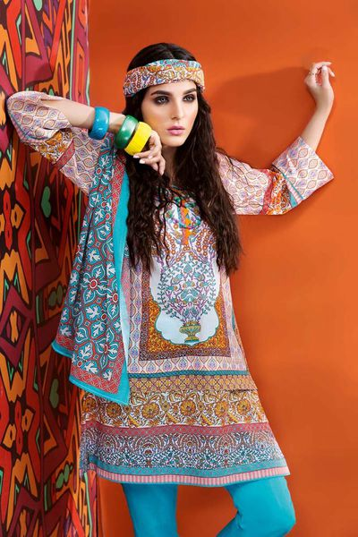 UNSTITCHED FABRIC <br> SUMMER ESSENTIAL COLLECTION 2018 by GulAhmed