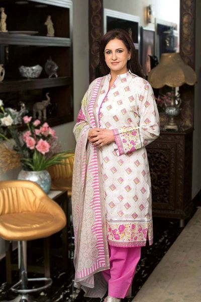 Pink 3 Pc Printed Lawn Suit CL-390 A by GulAhmed