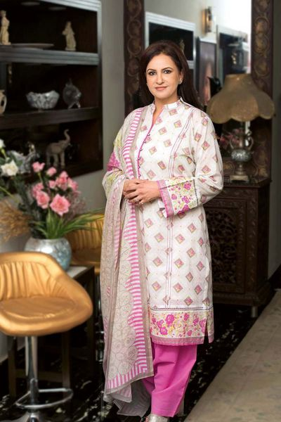 Pink 3 Pc Printed Lawn CL-390 A by GulAhmed