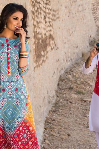 Multi 3 Pc Printed Lawn CL-407 A by GulAhmed