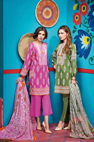 Green 3 Pc Embroidered Lawn CL-416 B by GulAhmed