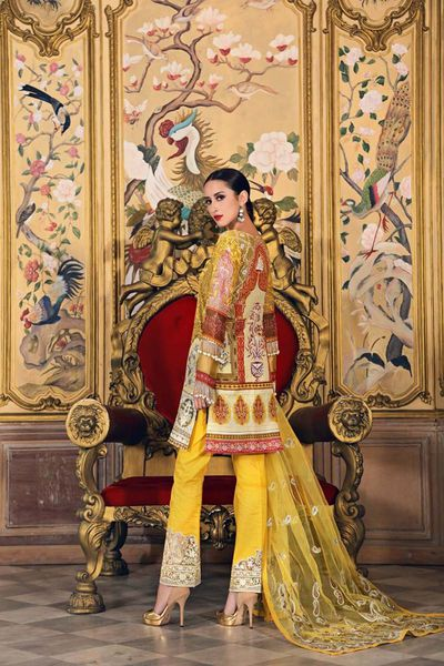 Yellow 3 Pc Embroidered FE-132 by GulAhmed