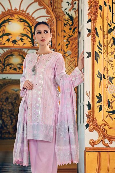 Light Pink 3 Pc Embroidered FE-152 by GulAhmed