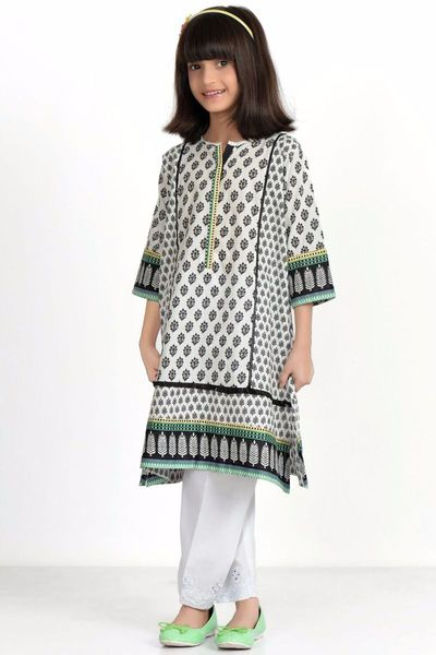 Printed Kurta by Khaadi