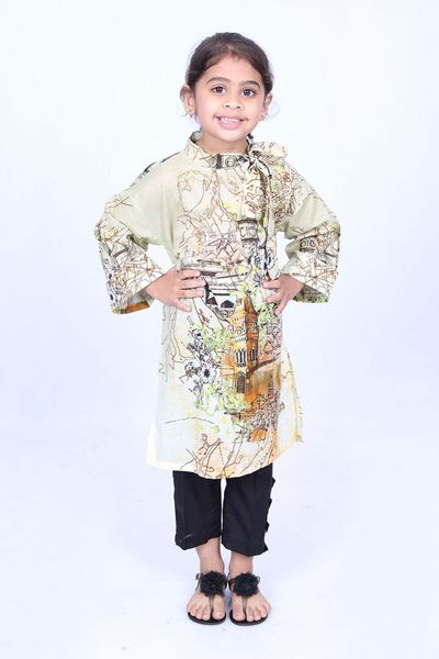 Multi 1 Pc Printed Lawn Shirt GLS-18-119 KIDS by GulAhmed