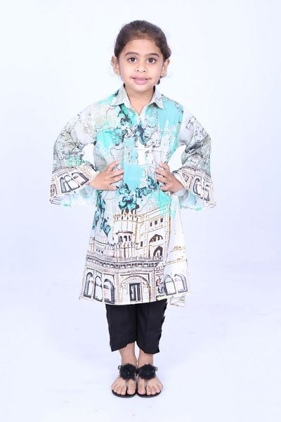 Multi 1 Pc Printed Lawn Shirt GLS-18-121 KIDS by GulAhmed