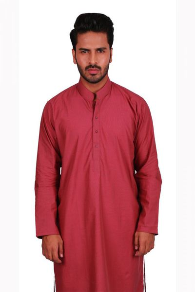 Red-Plain-Kurta-KP-1189 by GulAhmed