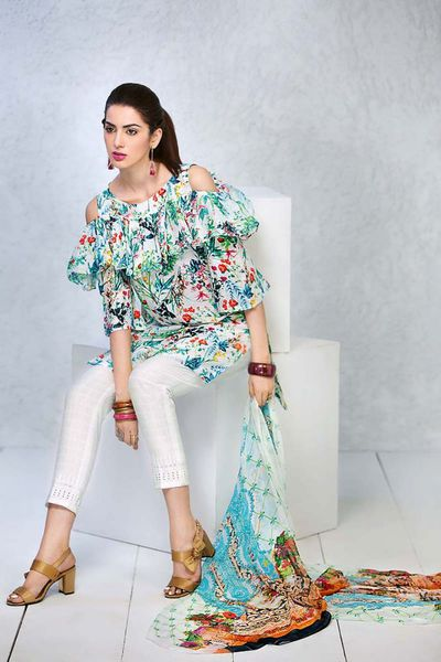 UNSTITCHED FABRIC <br> SUMMER PREMIUM COLLECTION 2018 by GulAhmed