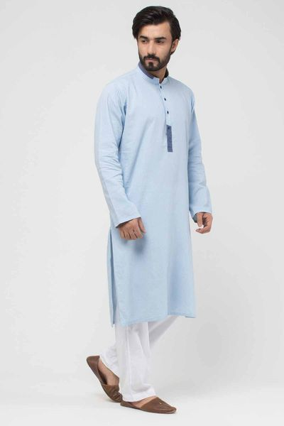 Denim Kurta by Khaadi