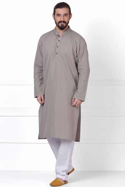 Embroidered Kurta-Brown by Khaadi