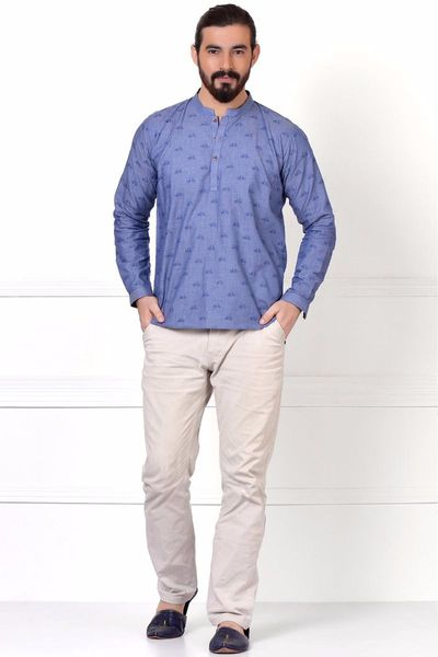 Embroidered Short Kurta by Khaadi