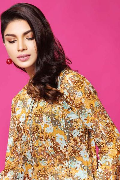 Brown 1 Pc Printed lawn SL-463 A by GulAhmed