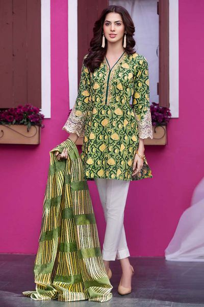 Green 2 Pc Embroidered Suit TL-102 B by GulAhmed