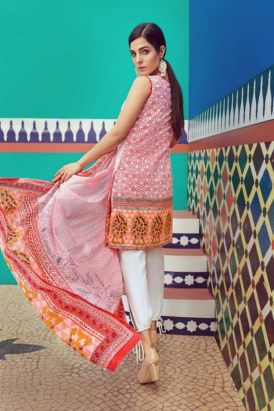 Orange 2 Pc Embroidered Lawn TL-114 B by GulAhmed