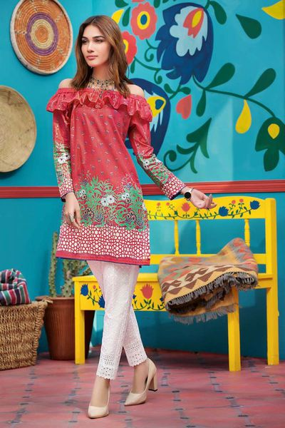 Pink 2 Pc Embroirdered Lawn TL-123 B by GulAhmed