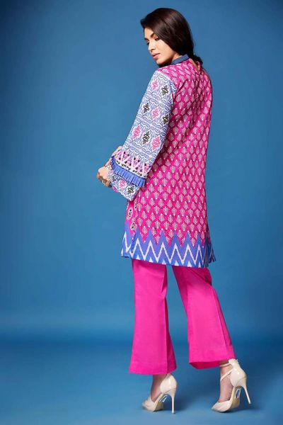 Pink 2 Pc Printed Lawn TL-124 B by GulAhmed