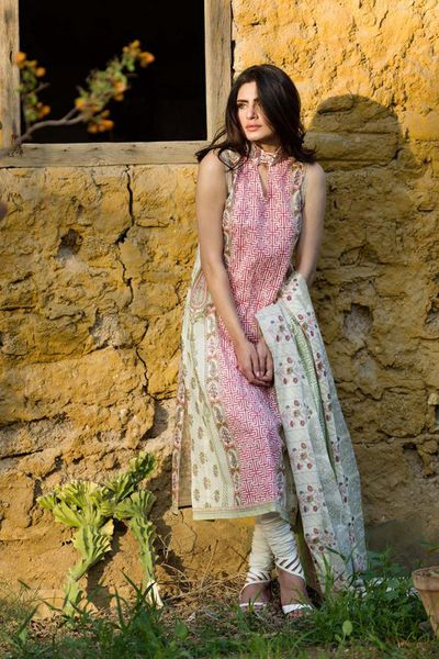 Pink 2 Pc Printed Lawn TL-93 A by GulAhmed