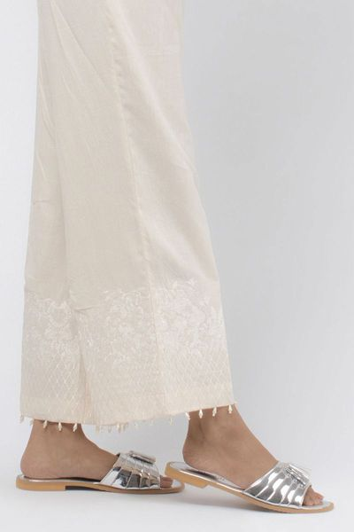 Embroidered Straight Pants by Khaadi