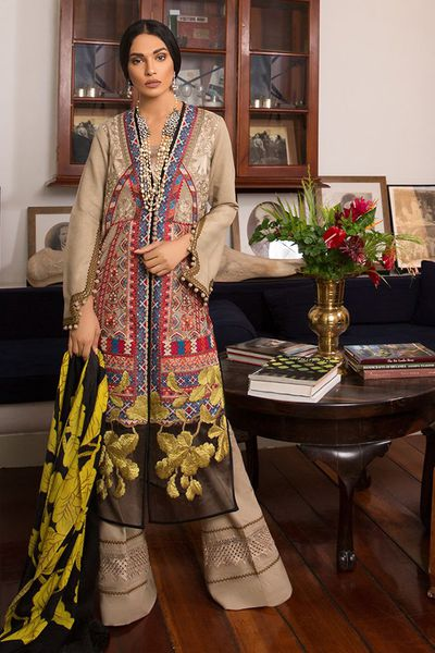unstitched fabric<br>winter collection by Sana Safinaz