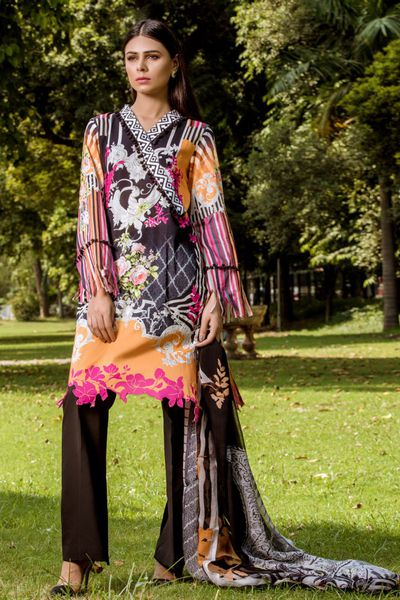 TROPICAL CAMBRIC PRINTS FALL 2018 by Firdous Cloth