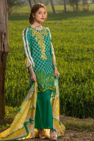 Collection Lawn Embroided 2018 by Firdous Cloth