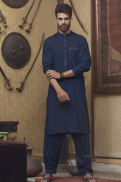 HEW-001-Navy by Firdous Cloth