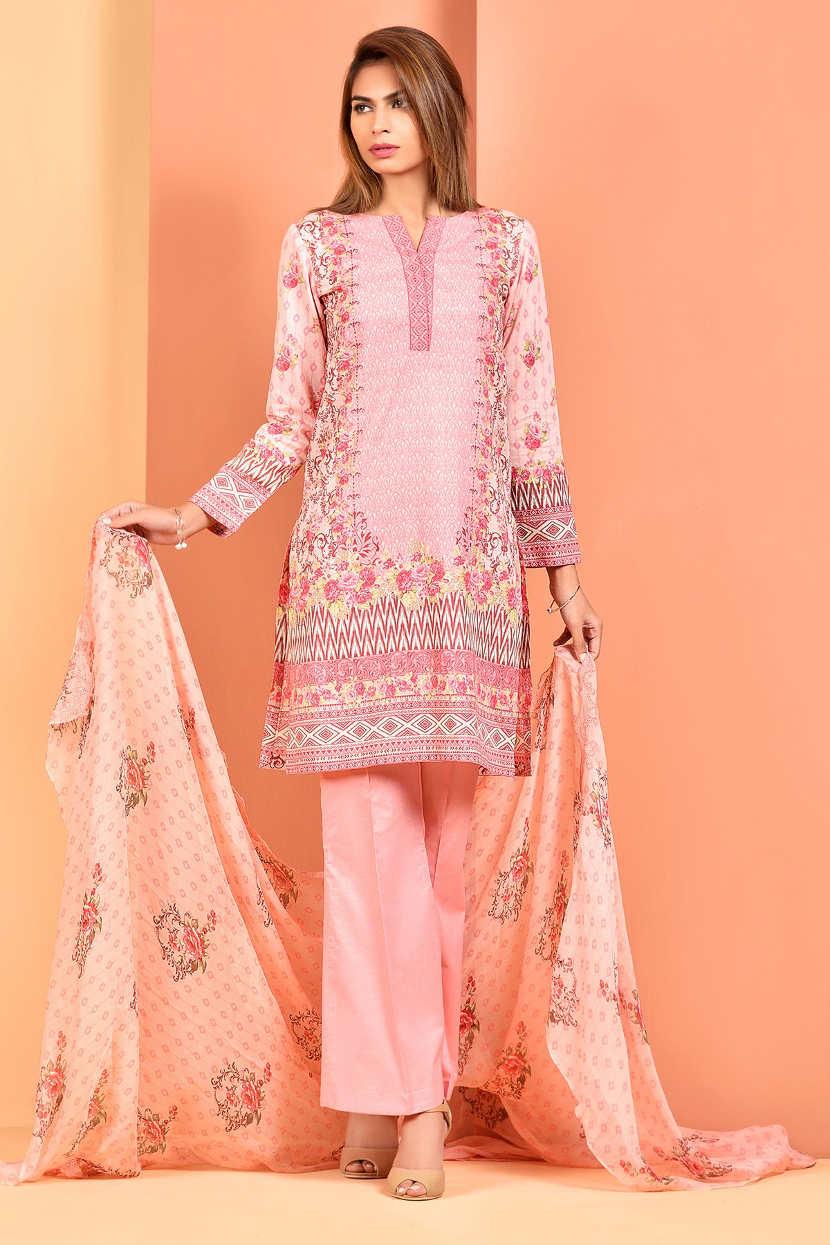 2f65a13642 Printed & Embroidered Suit by Kayseria